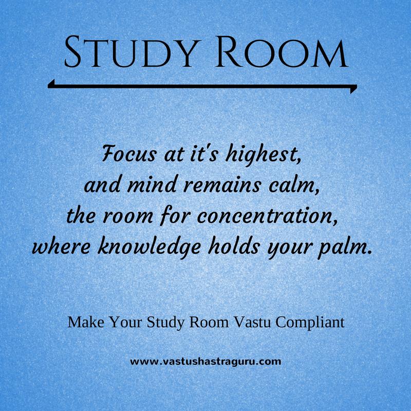 Study Room Vastu Tips